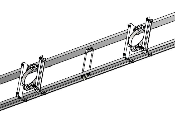 CIT 220 - Coronament de întindere pe stâlpi portali